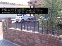 美容室DRIVEさん外構工事(手作りフェンス)